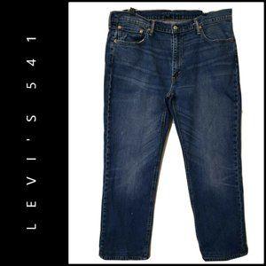Levi's 541 Men Denim Blue Slim Straight Jeans 38
